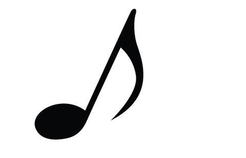 Music note silhouette vector