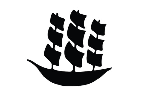 Sailboat silhouette vectors