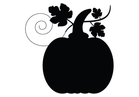 Thanksgiving pumpkin silhouette vector