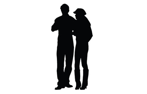 Woman and man silhouette vector