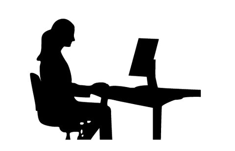 Woman working silhouette vector
