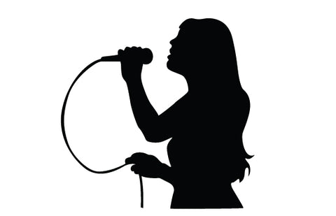 women-singing-silhouette-vector