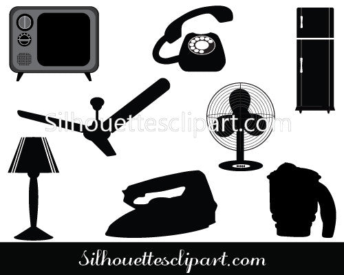 Appliance Vector Silhouette Graphics