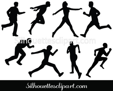 Athletics Silhouette Clip Art Pack