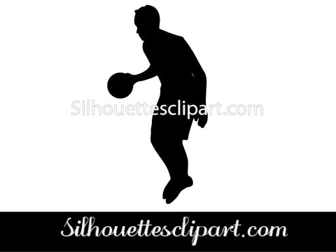 Basketball Players Silhouette Vector Set