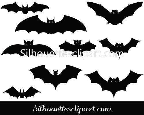 Bat Silhouette Vector Graphics