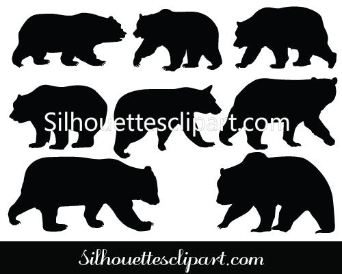 Bear Silhouette Vector - Quality Vector Silhouette