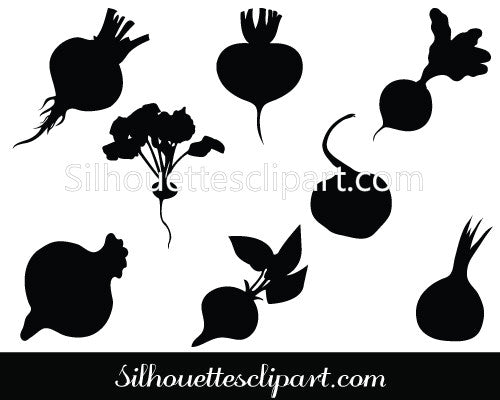 Beetroot Silhouette Vector Pack