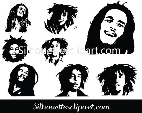 Bob Marley Silhouette - The Everlasting Delightful Music