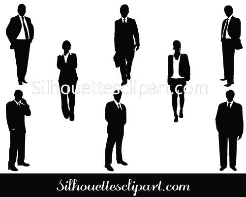 Business People Silhouette Clip Art Pack