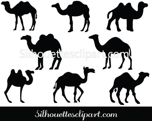 Camel Silhouette Clip art Pack