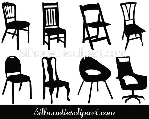 Chair Silhouette Clip Art Pack