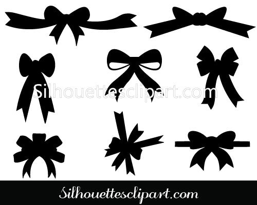 Christmas Ribbons Vector Graphics