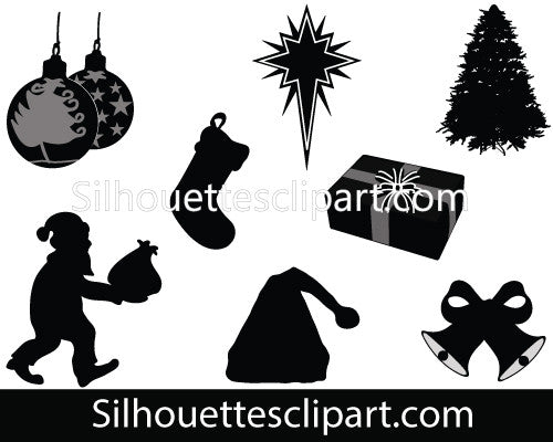 Christmas Silhouette Vector Graphics Pack