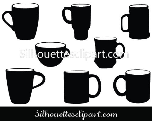 Coffee Mug Silhouette Vector