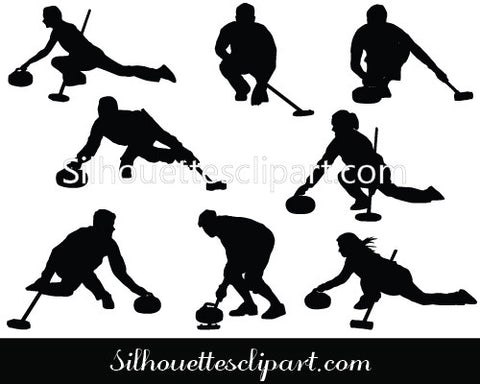 Curling Silhouette Vector