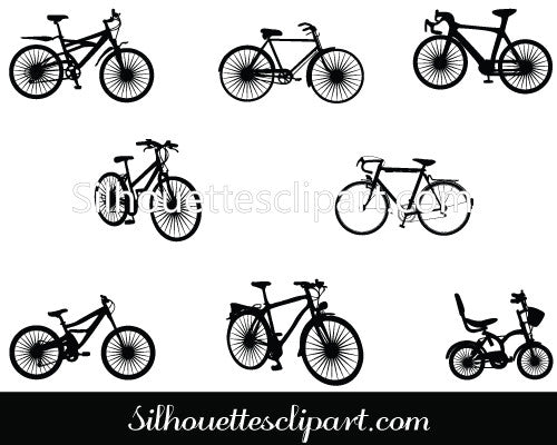 Cycle Silhouette Vector Pack