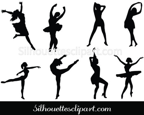 Dance Silhouette Vector Ballet Dance & Break Dance Silhouette