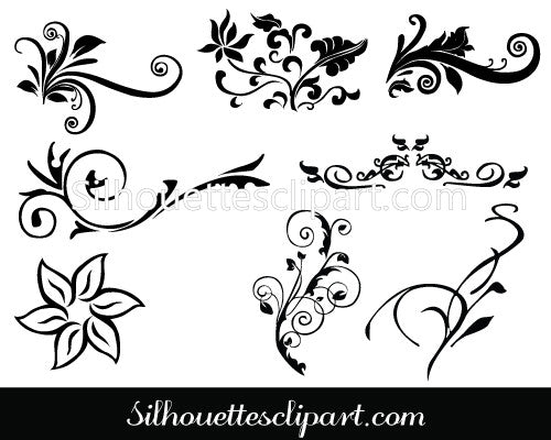 Decorative Line Art Vector
