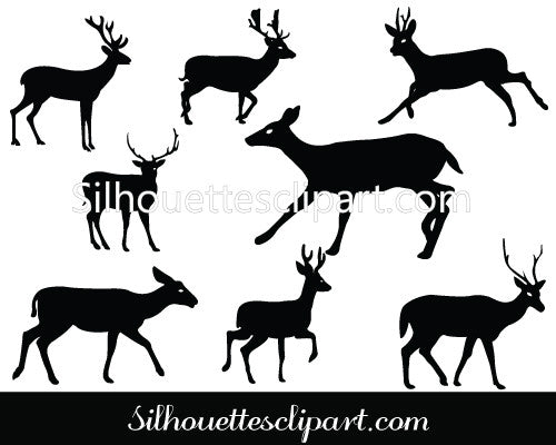 Deer Silhouette Vector Pack