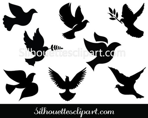 Dove clip art Pack