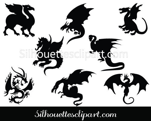 Dragon Silhouette Vector Art