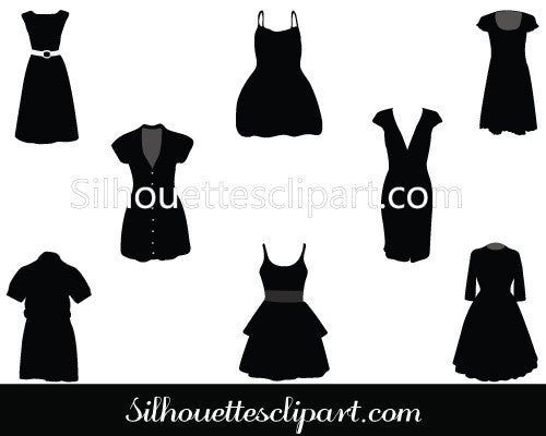 Party Dresses Vector Graphics Pack