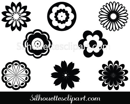 Flowers Filigree Silhouette