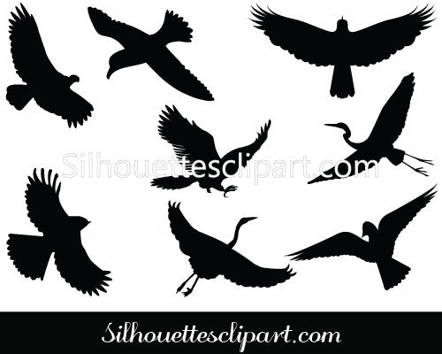 Birds Flying Silhouette Vector