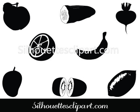 Food Silhouette Vectors