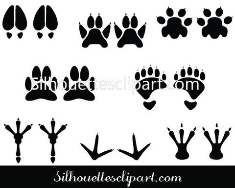 FootPrint Silhouette Vector Graphics