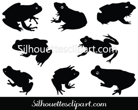 Frog Silhouette Vector Clip Art