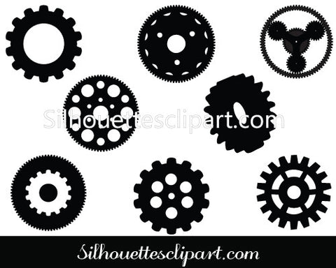 Gear Silhouette Vector pack