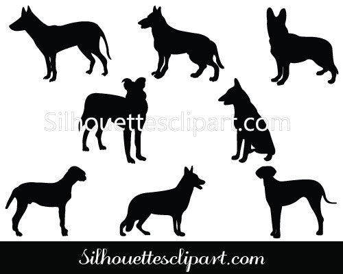 German Shepherd Silhouette Clip Art
