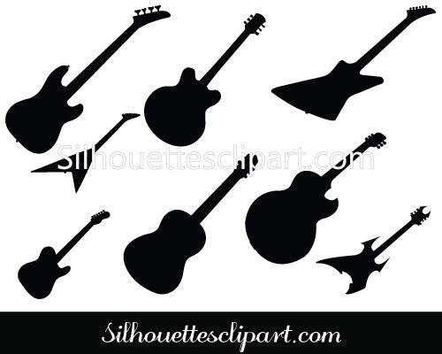 Guitar Silhouette Vector Pack