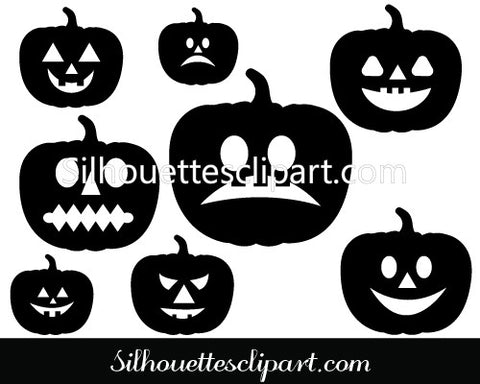 Halloween Pumpkins Vector Graphics