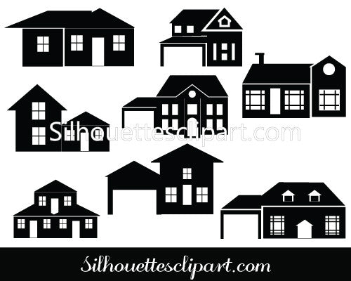 House Silhouette Vector