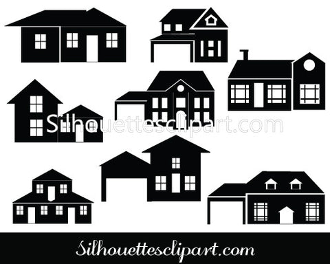 perfect house silhouette vector for download silhouettes vector