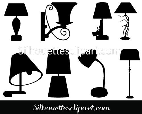 Lamp Silhouette Clip Art pack