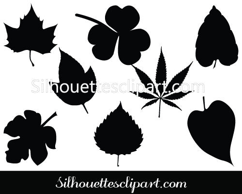 Leaves Silhouette Clip Art Pack