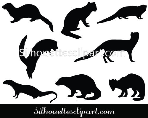 Mongoose Silhouette Vector