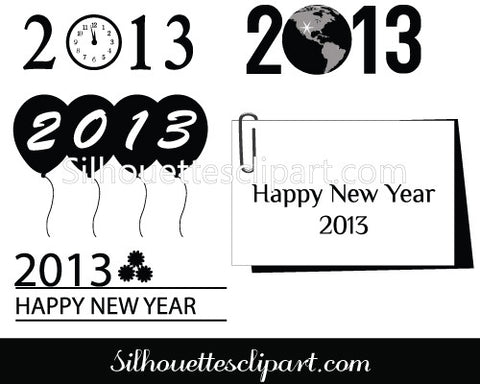 New Year Vector Graphics pack