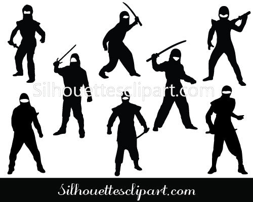Ninja Japanese Warrior Silhouette