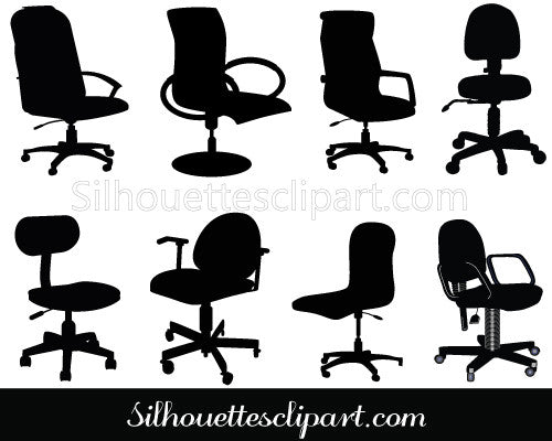 Office Chair Clip Art Pack
