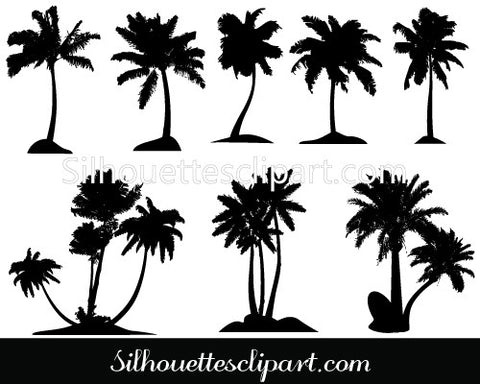 Palm Tree Clip Art pack