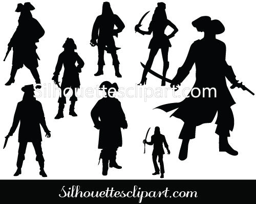 Pirate Silhouette Vector