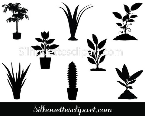 Plant Silhouette Vector Pack