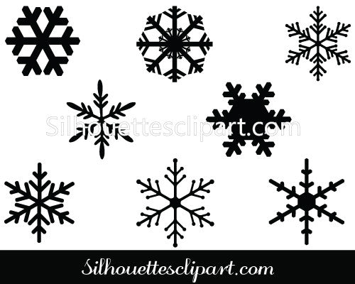 Snowflakes Vector Graphics