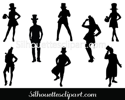 St Patrick Silhouette Vector People