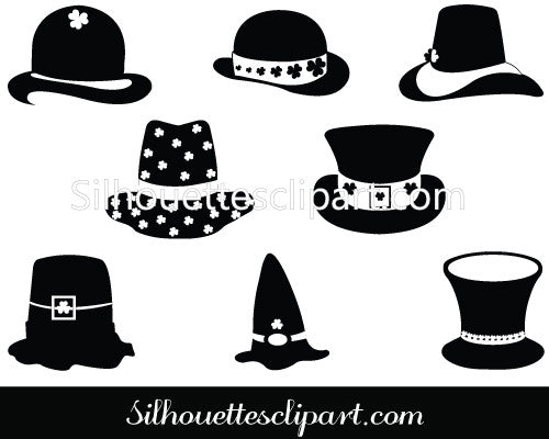 St Patrick's Silhouette Clip Art Pack